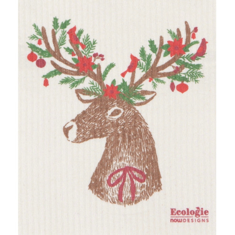 Now Designs Dasher Deer Swedish Cloth