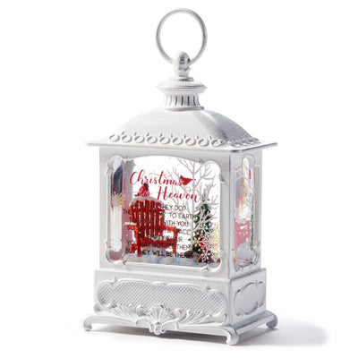 """Christmas in Heaven"" Water Lantern with Perpetual Snow and LED"