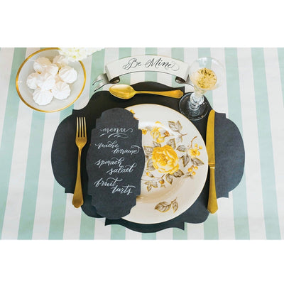 Hester & Cook Die Cut Grey French Frame Placemats