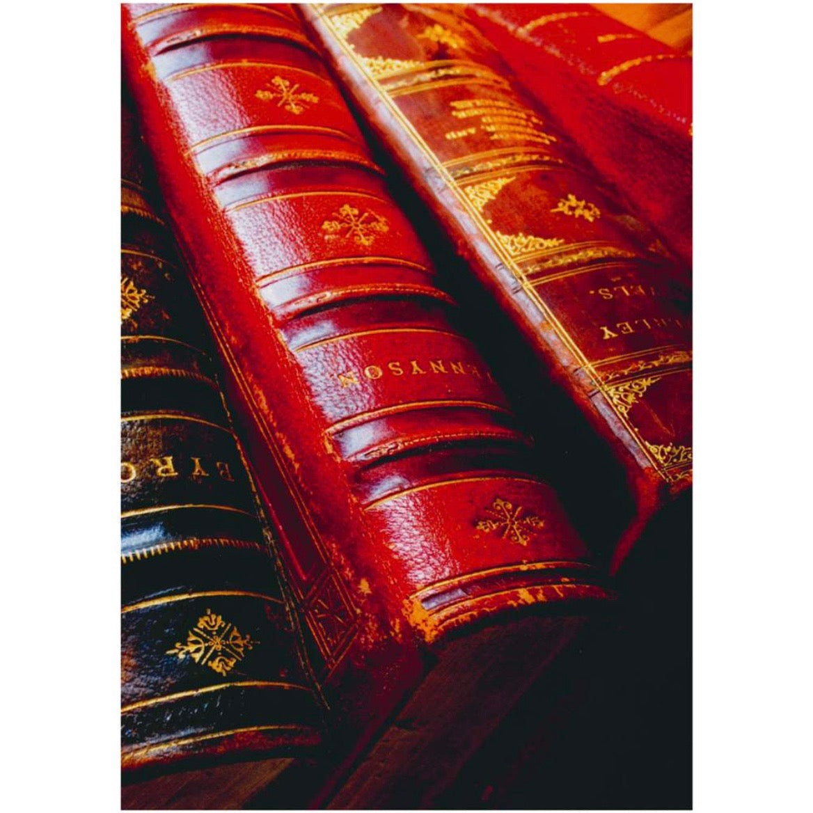 Antique Leather Books Greeting Card