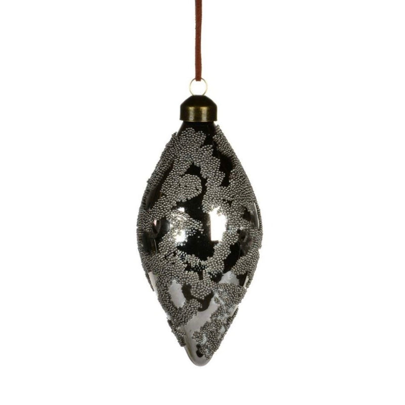 Bronze Beaded Glass Ornament  - Double Point