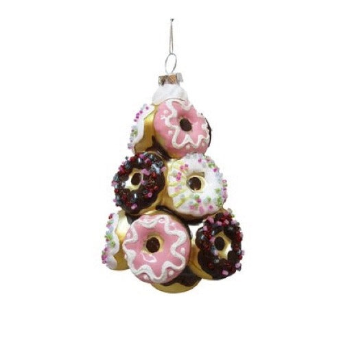 Kurt Adler Doughnut Christmas Tree Glass Ornament