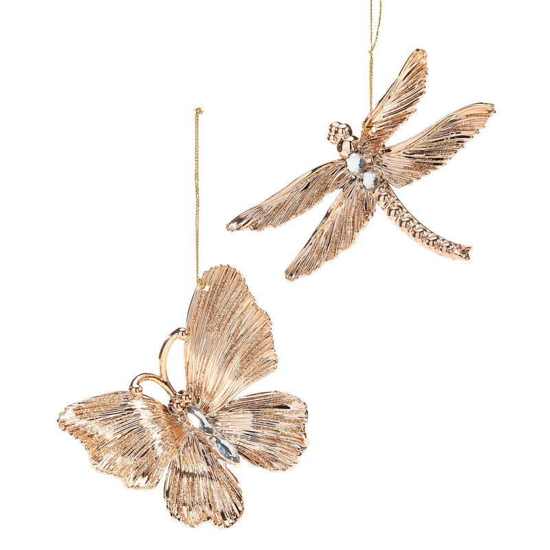 Gold Butterfly Ornament