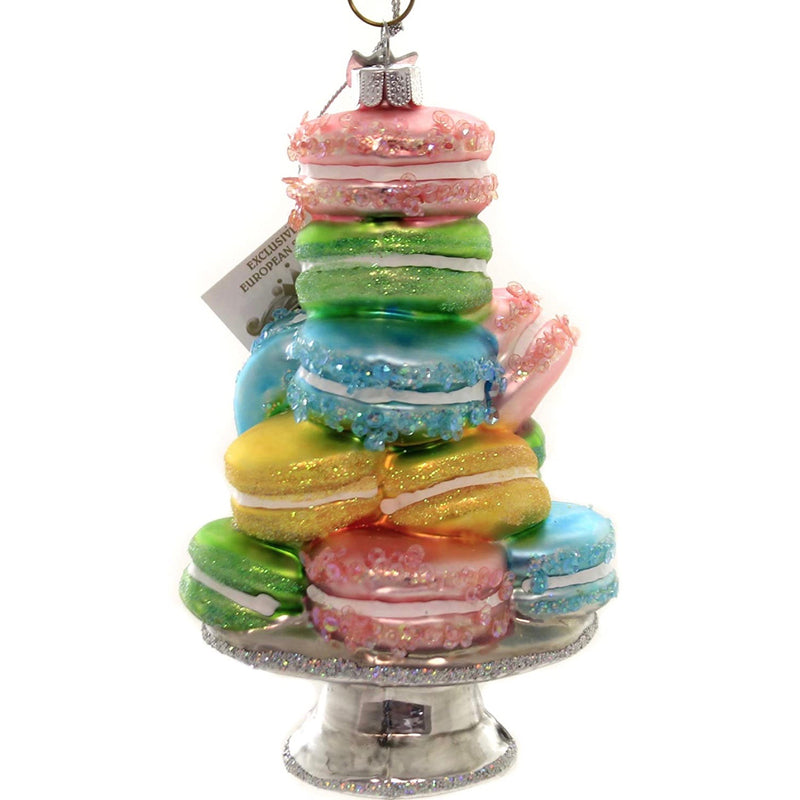 Kurt Adler Stacked Macaron Glass Ornament