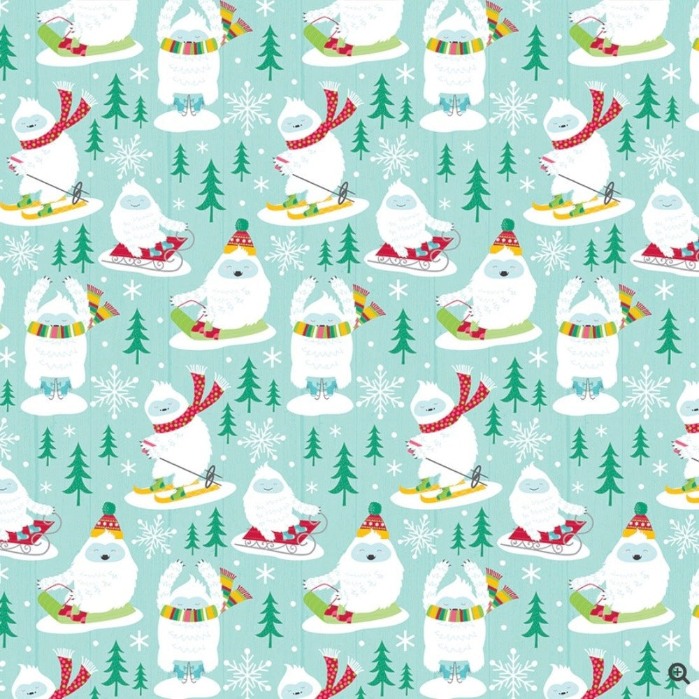 Yeti for the Season Wrapping Paper Roll