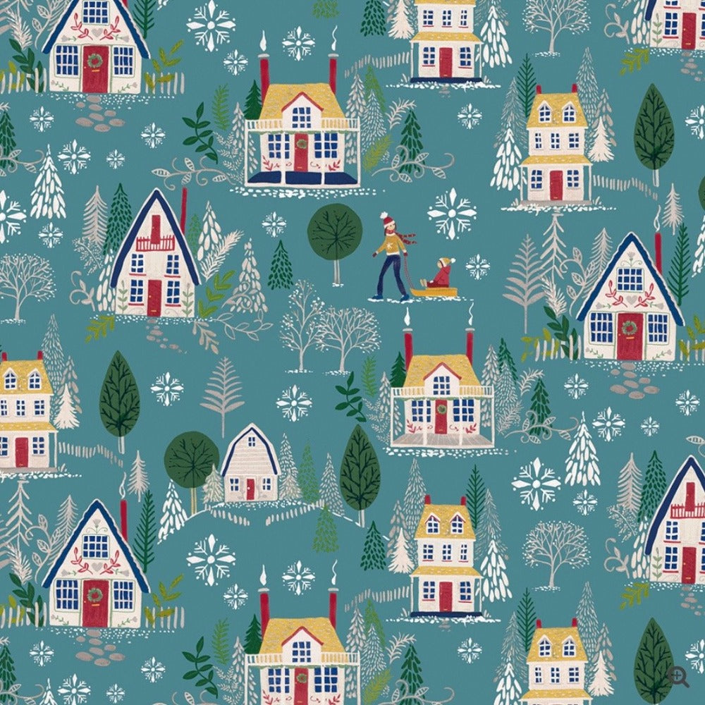 Winter Village Wrapping Paper Roll  | Putti Christmas Canada