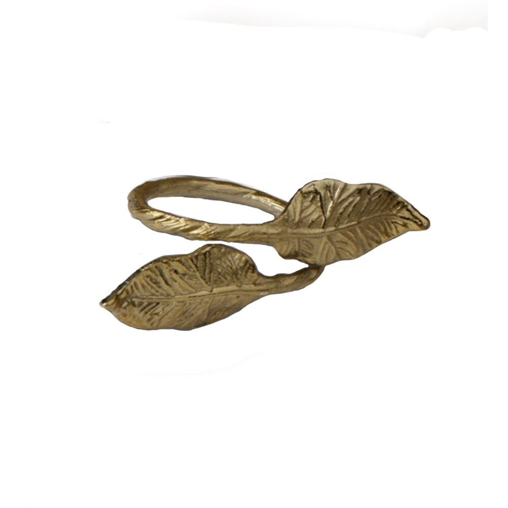 Gold Leaf Napkin Rings