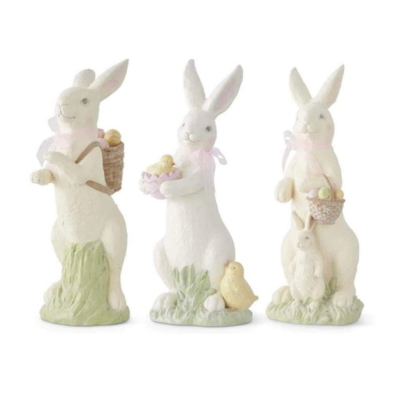 Pastel Glittered Bunny with Chicks