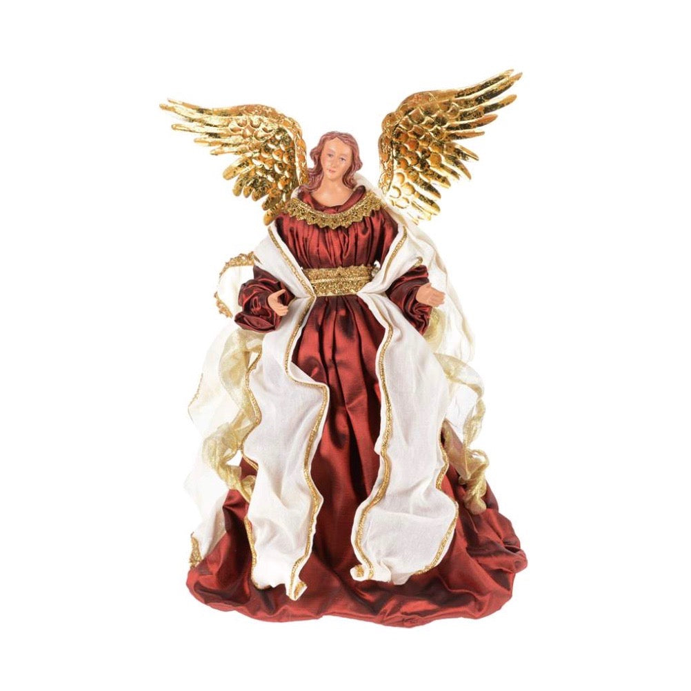 Angel with Burgundy Gown - Putti Fine Furnishings Christmas Canada