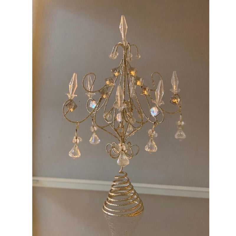 Champagne Chandelier Christmas Tree Topper