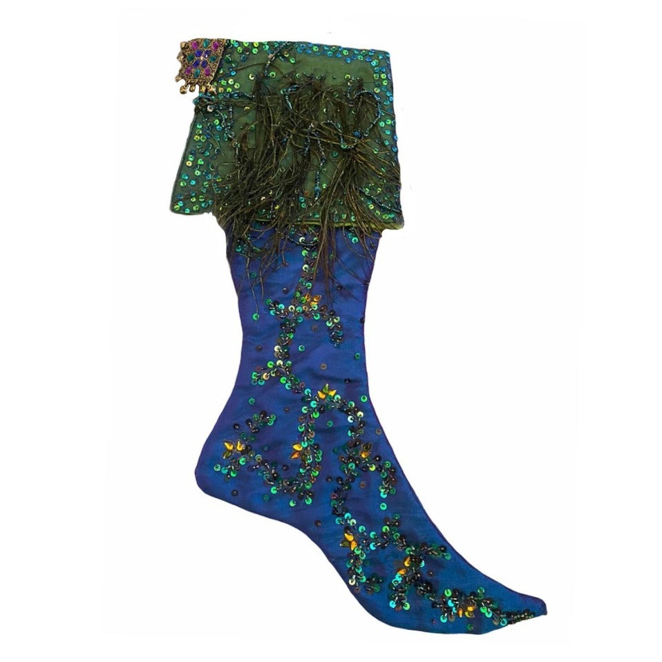 Katherine's Collection Peacock Stocking | Putti Christmas Canada
