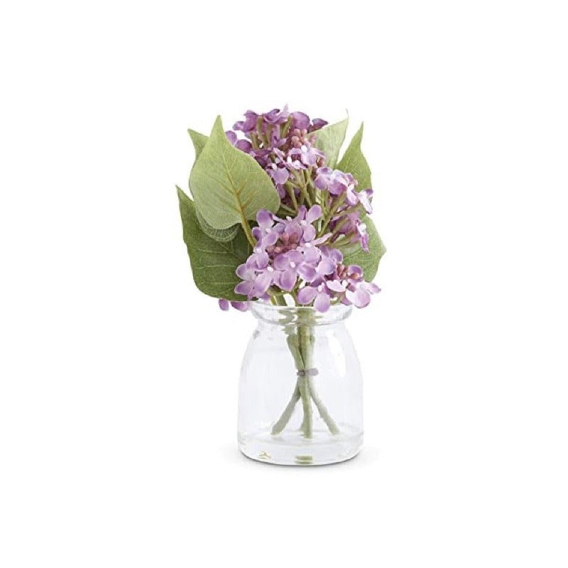 Purple Lilac In Glass Jar | Putti Fine Furnishings