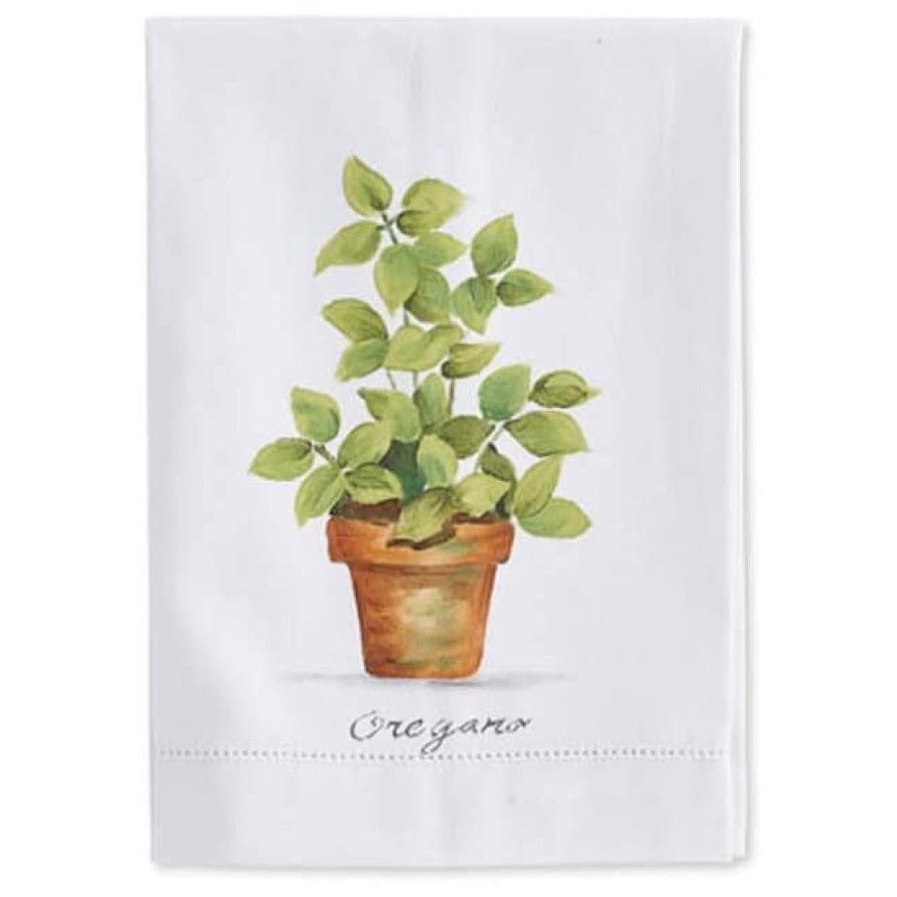 Herbs in Pots Cotton Guest Towels