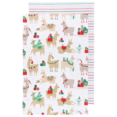 """Fa La La La Llama"" Dish Towels Set of 2"