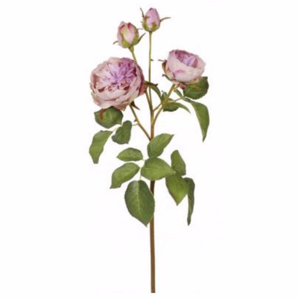 English Rose - Lavender -  Artificial Flowers - Windward Canada - Putti Fine Furnishings Toronto Canada