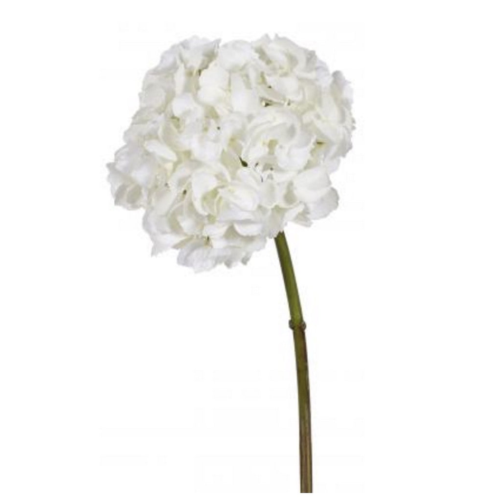 Hydrangea Short Stem - White -  Artificial Flowers - Windward Canada - Putti Fine Furnishings Toronto Canada