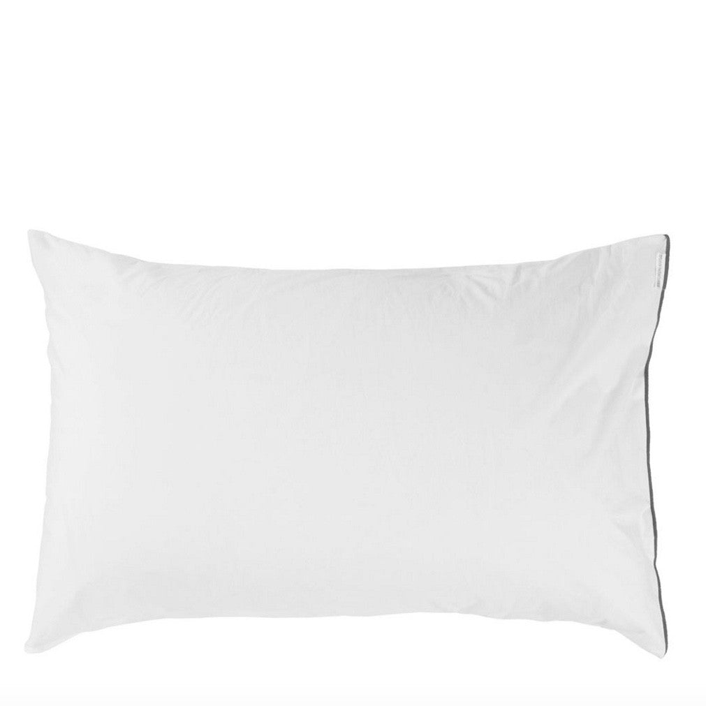 "Designers Guild Astor Charcoal and Dove Bedding-Bedding-DG-Designers Guild-Standard Pillow Case 20"" x 26"" ( 50 x 65cm )-Putti Fine Furnishings"