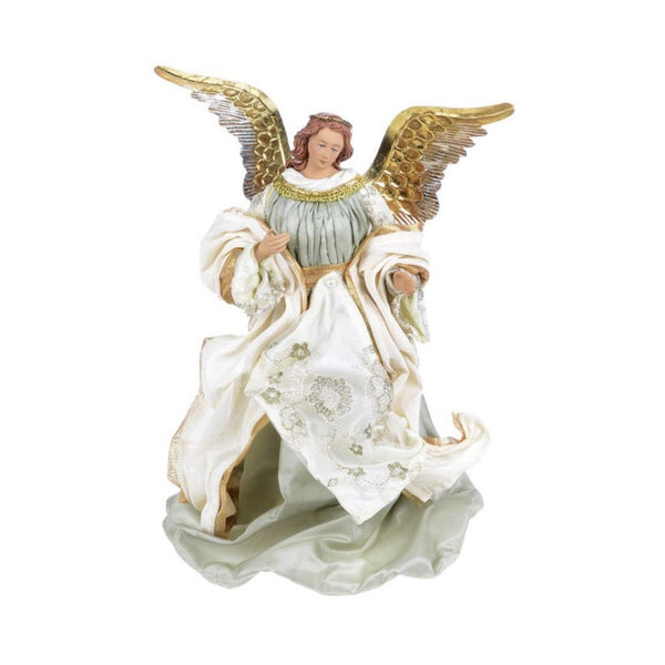 Angel with Ivory and Pale Blue Green Robes, CT-Christmas Tradition, Putti Fine Furnishings