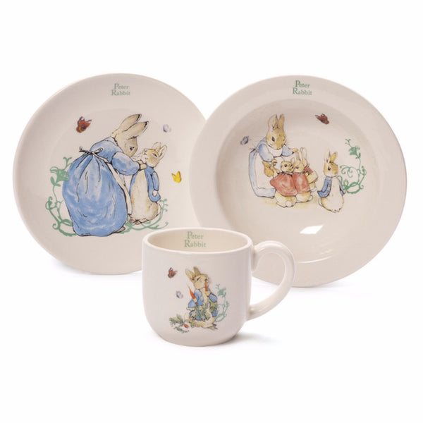 Baby Gund - Peter Rabbit 3pc Ceramic Set -  Children's Giftware - Enesco - Putti Fine Furnishings Toronto Canada