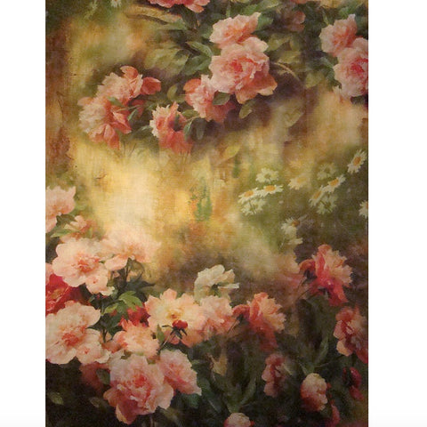 Pink Peonies and Roses Floral Printed Scarf -  Personal Accessories - Woody Collections - Putti Fine Furnishings Toronto Canada