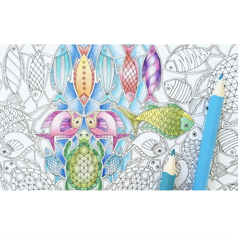 Lost Ocean: An Inky Adventure And Coloring Book For Adults, RH-Random house, Putti Fine Furnishings
