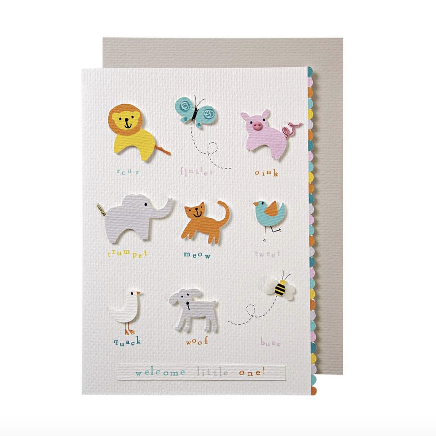 "Meri Meri ""Animals Baby"" Card"