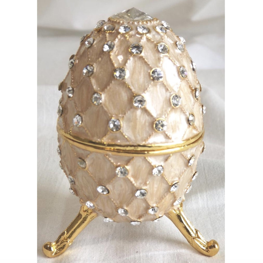 Jewelled Faberge Egg Music Box - Pink