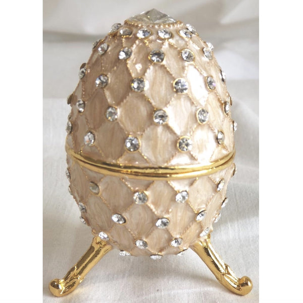 Jewelled Faberge Egg Music Box - Pink-Accessories-FDF-Fil de Fer Enterprises-Putti Fine Furnishings