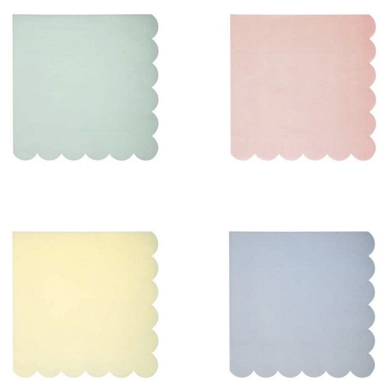Meri Meri Pastel - Small Paper Napkins -  Party Supplies - Meri Meri UK - Putti Fine Furnishings Toronto Canada - 1