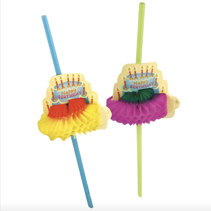 Happy Hour Happy Birthday Retro Straws, PP-Party Partners - Estelle Gifts, Putti Fine Furnishings