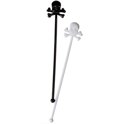 Black and White Skull and Crossbone Retro Cocktail Stirrers, PP-Party Partners - Estelle Gifts, Putti Fine Furnishings