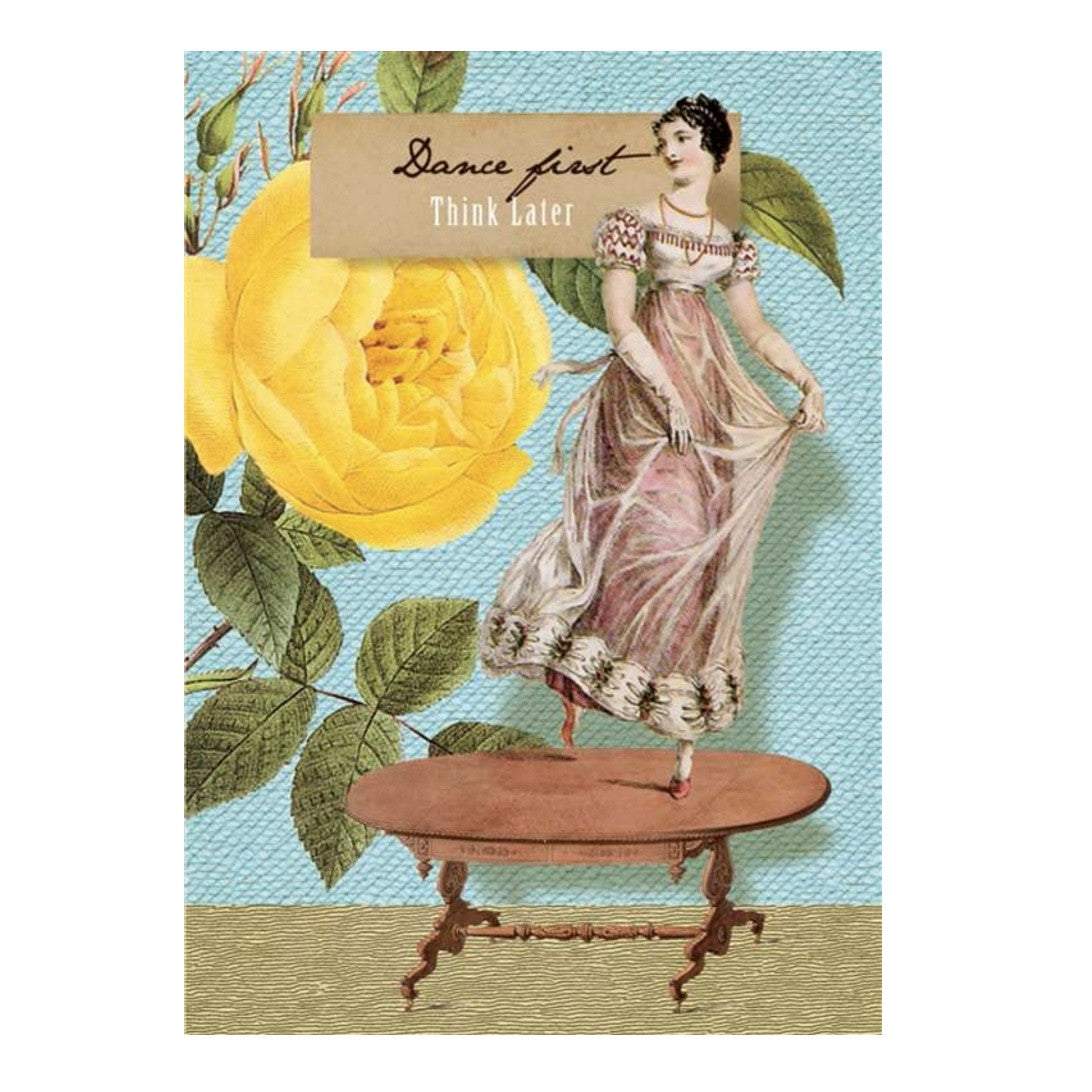 """Dance First ...Think Later "" Card, PEC-Paper E Clips, Putti Fine Furnishings"