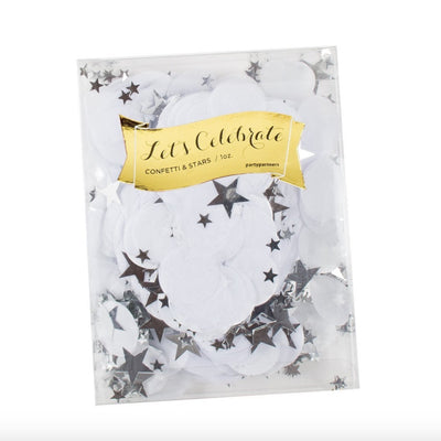 White Tissue Confetti and Stars -  Party Supplies - Party Partners - Putti Fine Furnishings Toronto Canada - 2