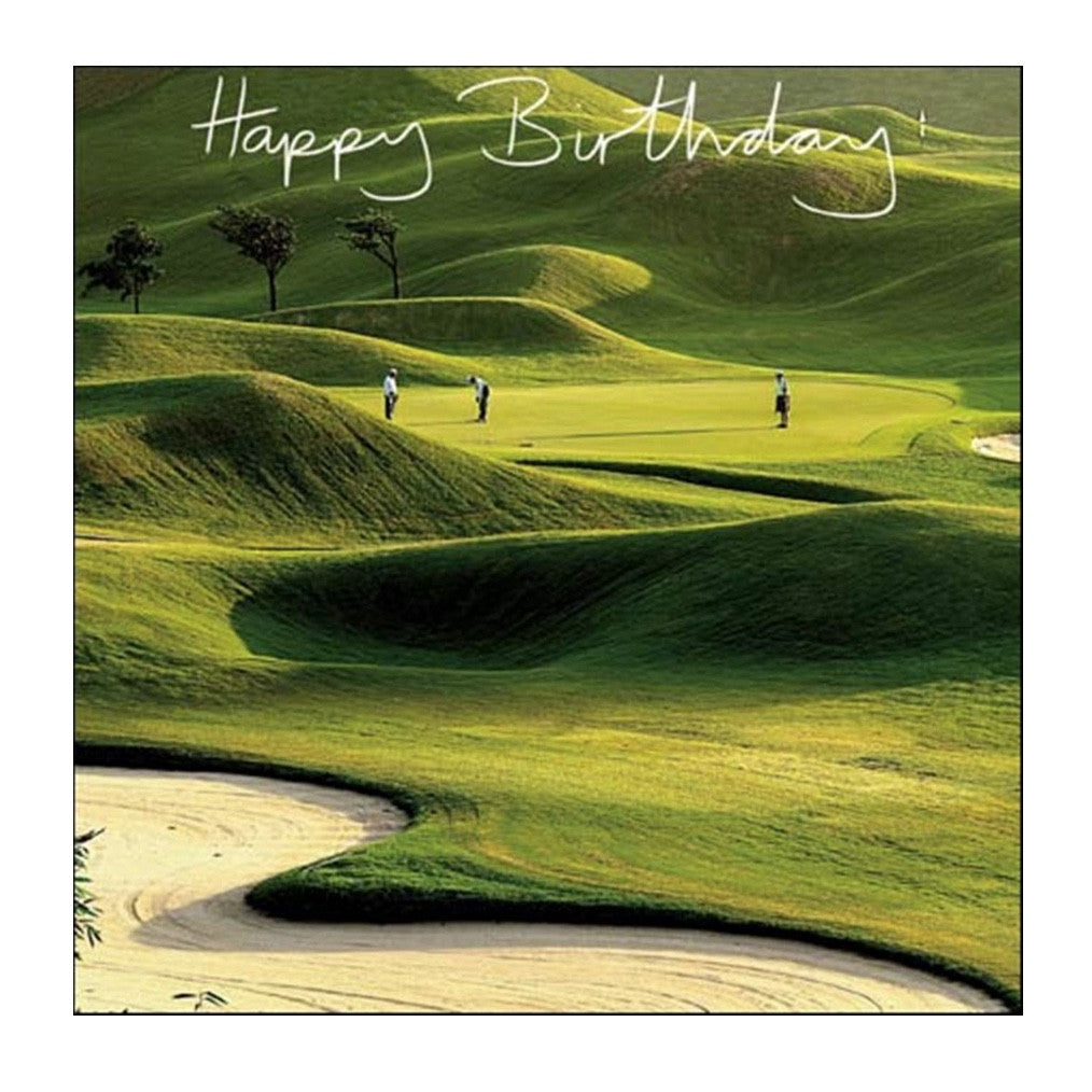 Tee Time Happy Birthday Golf Greeting Card JE Jannex Enterprises Putti