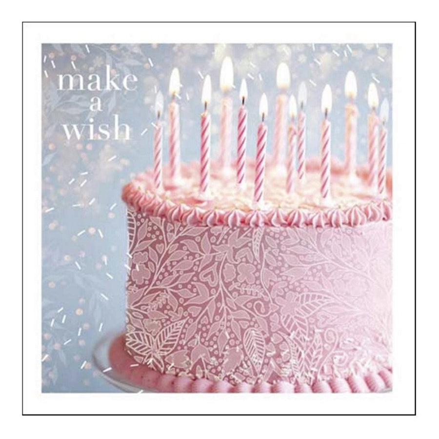"""Make a Wish"" Happy Birthday  Greeting Card"