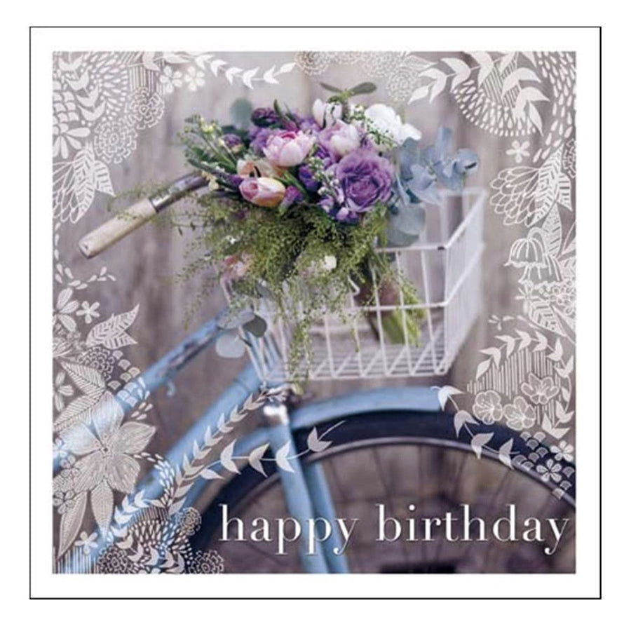 "Vintage Bike ""Happy Birthday"" Greeting Card"