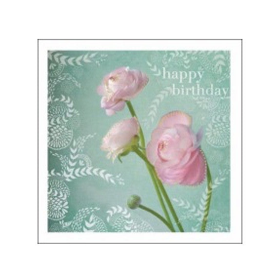 "Ranunculas ""Happy Birthday"" Greeting Card, JE-Jannex Enterprises, Putti Fine Furnishings"