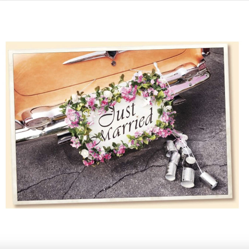 Vintage Wedding Car Greeting Card, JE-Jannex Enterprises, Putti Fine Furnishings