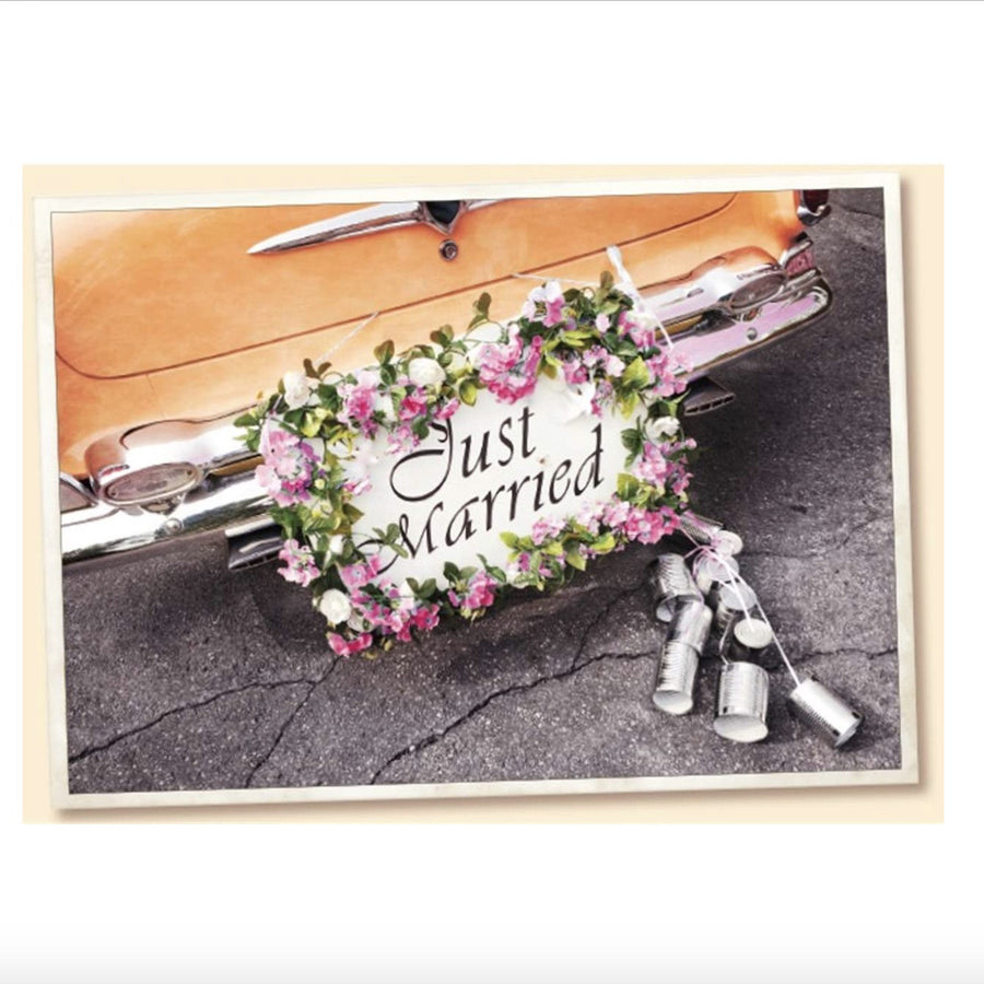 Vintage Wedding Car Greeting Card