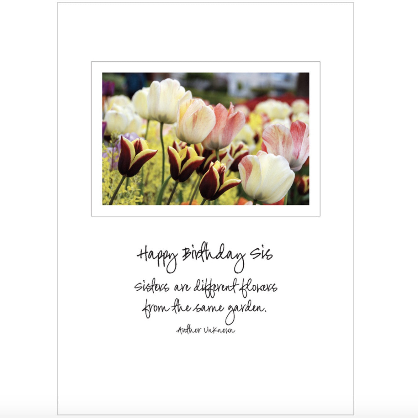 """Happy Birthday Sister ..."" Greeting Card"