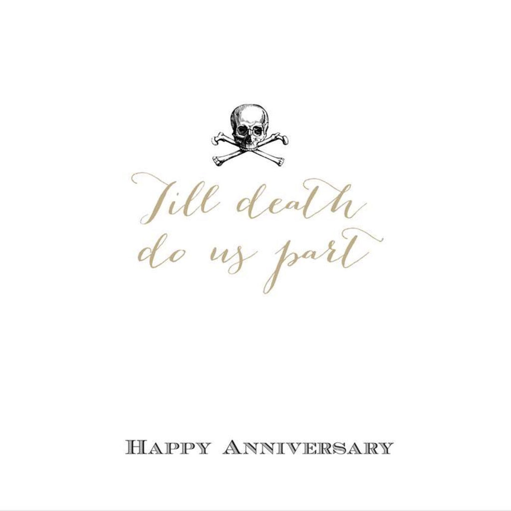 Till death do us part happy anniversary greeting card putti happy anniversary greeting card paper kristyandbryce Images