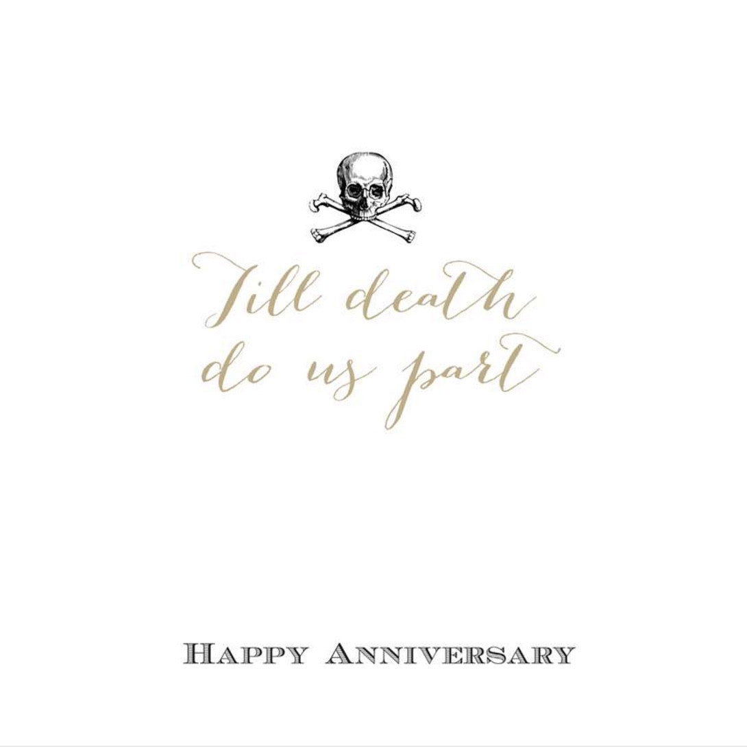 Till Death Do Us Part Happy Anniversary Greeting Card Putti