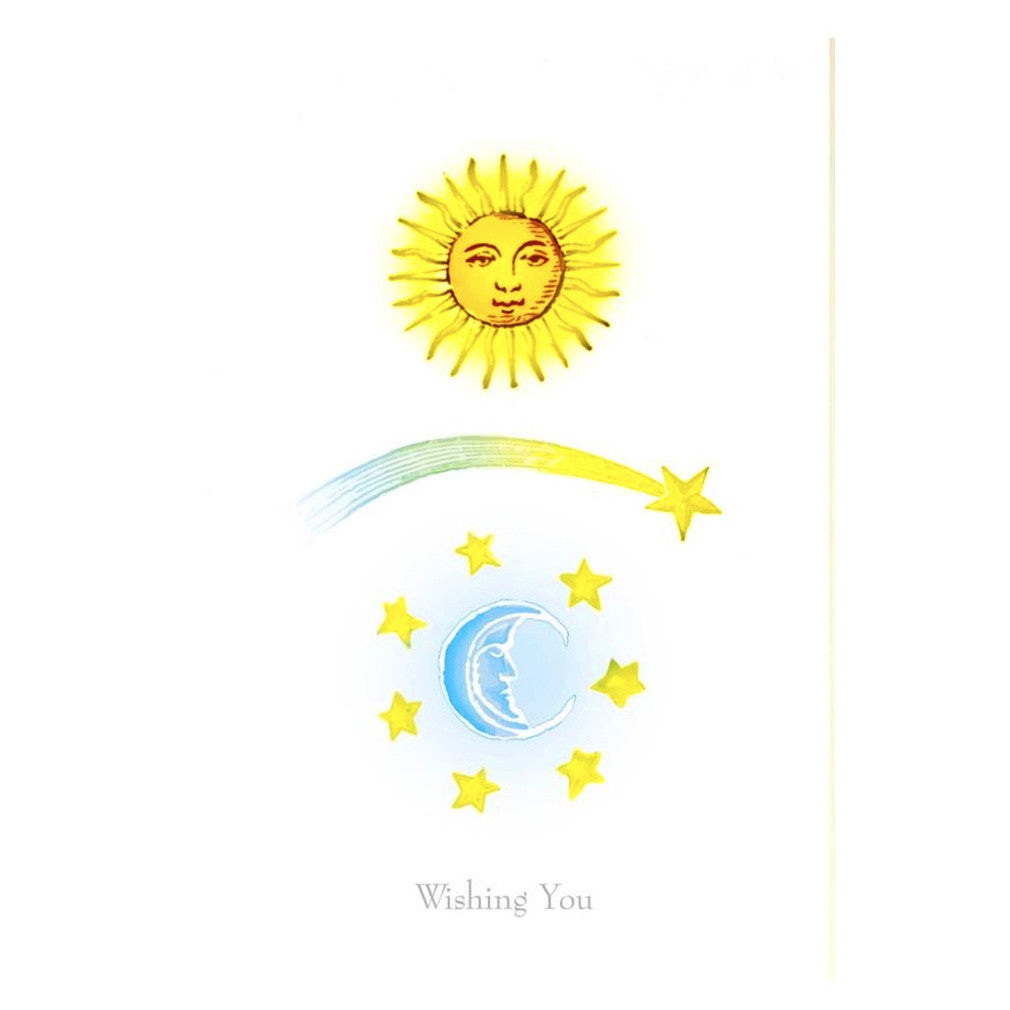 Sun Shooting Star Moon Greeting Card, Bella Flor, Putti Fine Furnishings