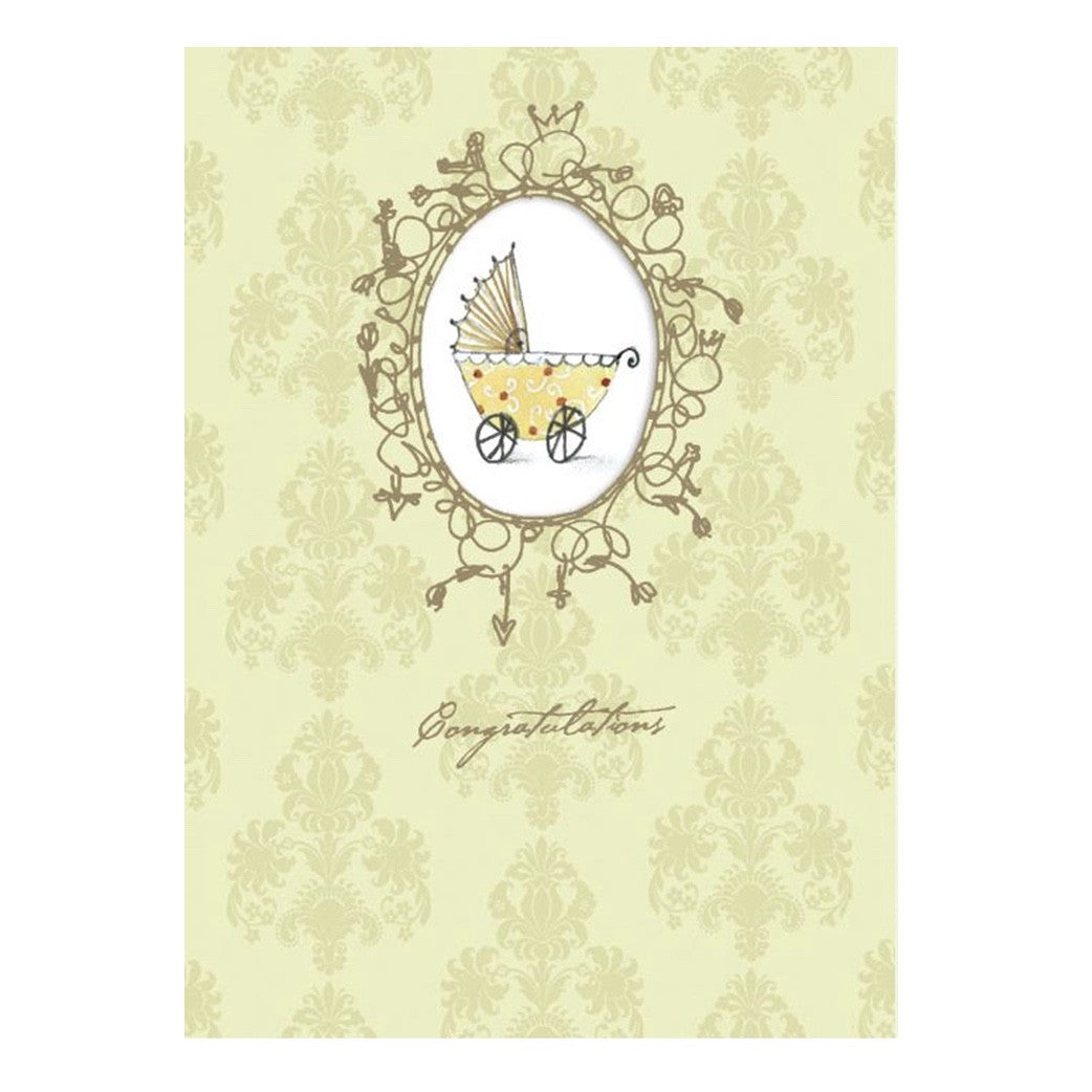 """Congratulations ... on your sweet new arrival"" Greeting Card, Bella Flor, Putti Fine Furnishings"