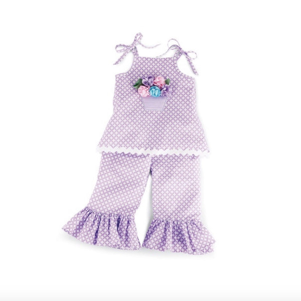 Mud Pie Baby Buds Lilac Tunic and Flared Pants Set-Children's Clothing-MP-Mud Pie-Putti Fine Furnishings