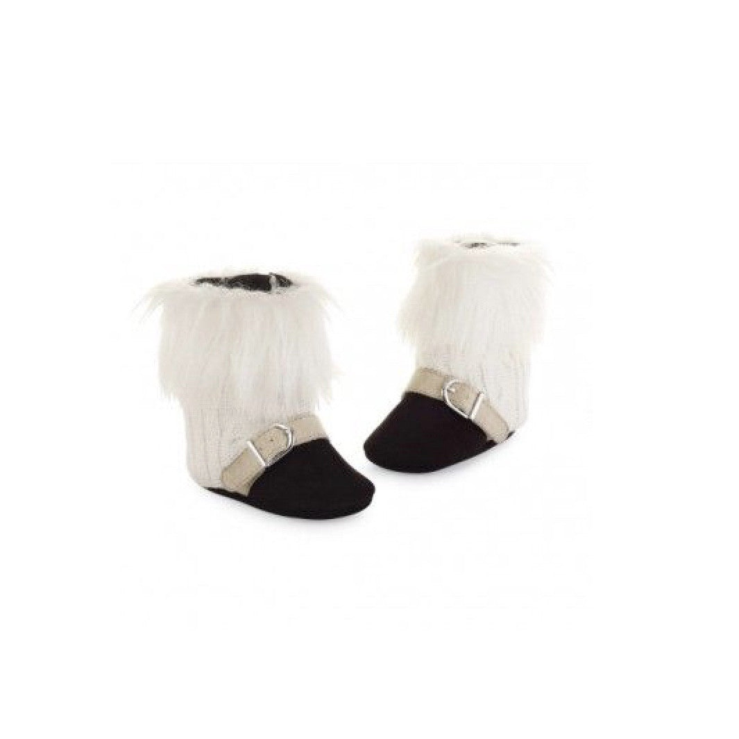 Mud Pie Cable Knit and Faux Fur Boots