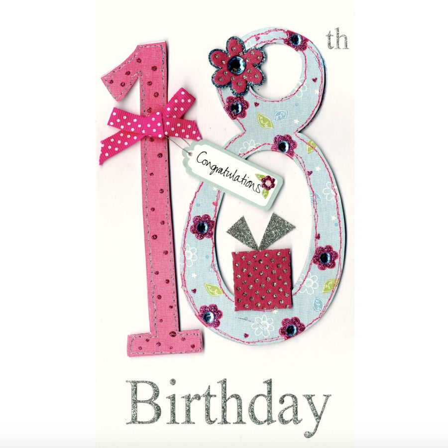 """18th Birthday Congratulations"" Greeting Card"