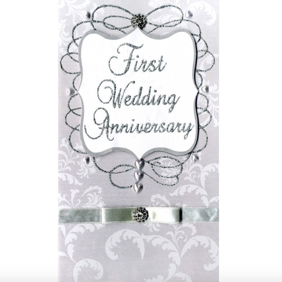 """First Wedding Anniversary"" Greeting Card"