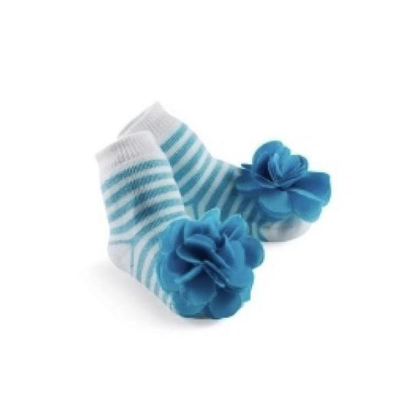 Mud Pie Aqua Striped Socks