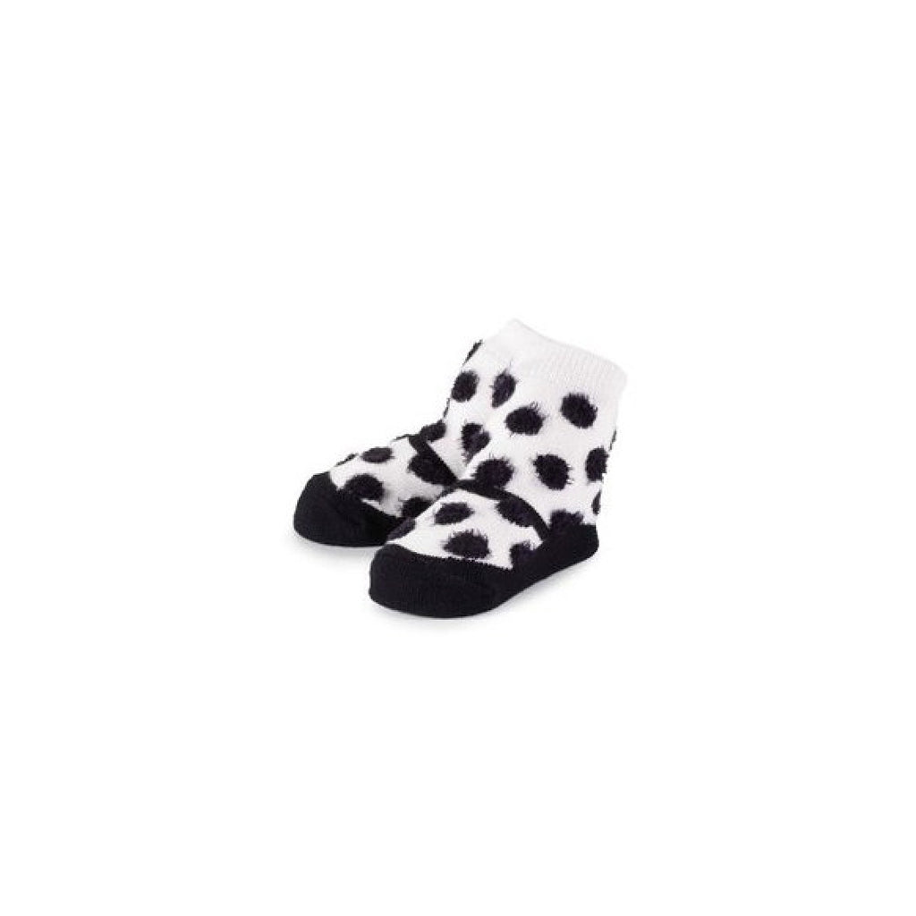 Mud Pie Black and White Polka Dot Mary Jane Socks -  Baby Socks - Mud Pie - Putti Fine Furnishings Toronto Canada